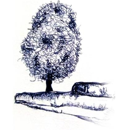 Albero simbolo della vita, poggiato su mano aperta che sostiene, in equilibrio