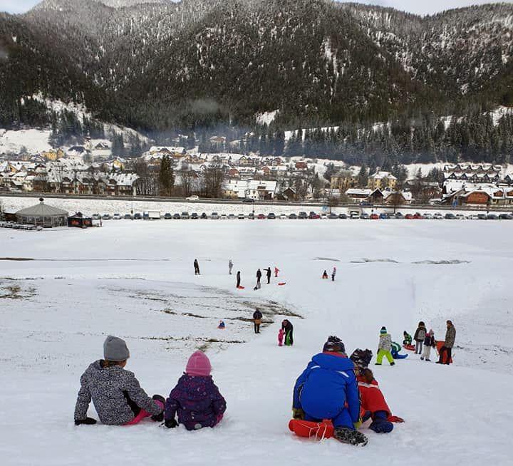 Winterspiele im Schnee